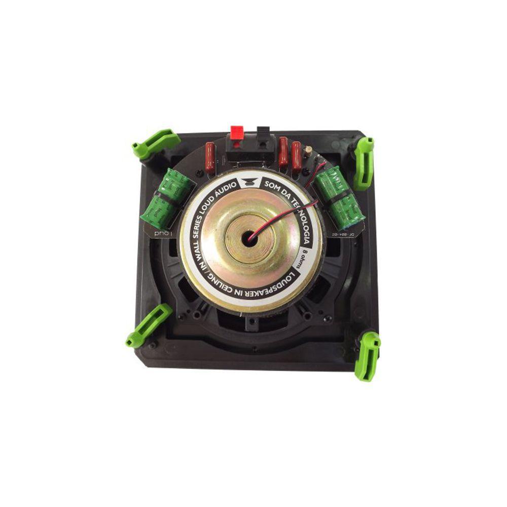 Kit 7.0 Caixa de Embutir no Gesso Linha Black Kevlar CLK6-120 BL + CSK6-120 BL Loud