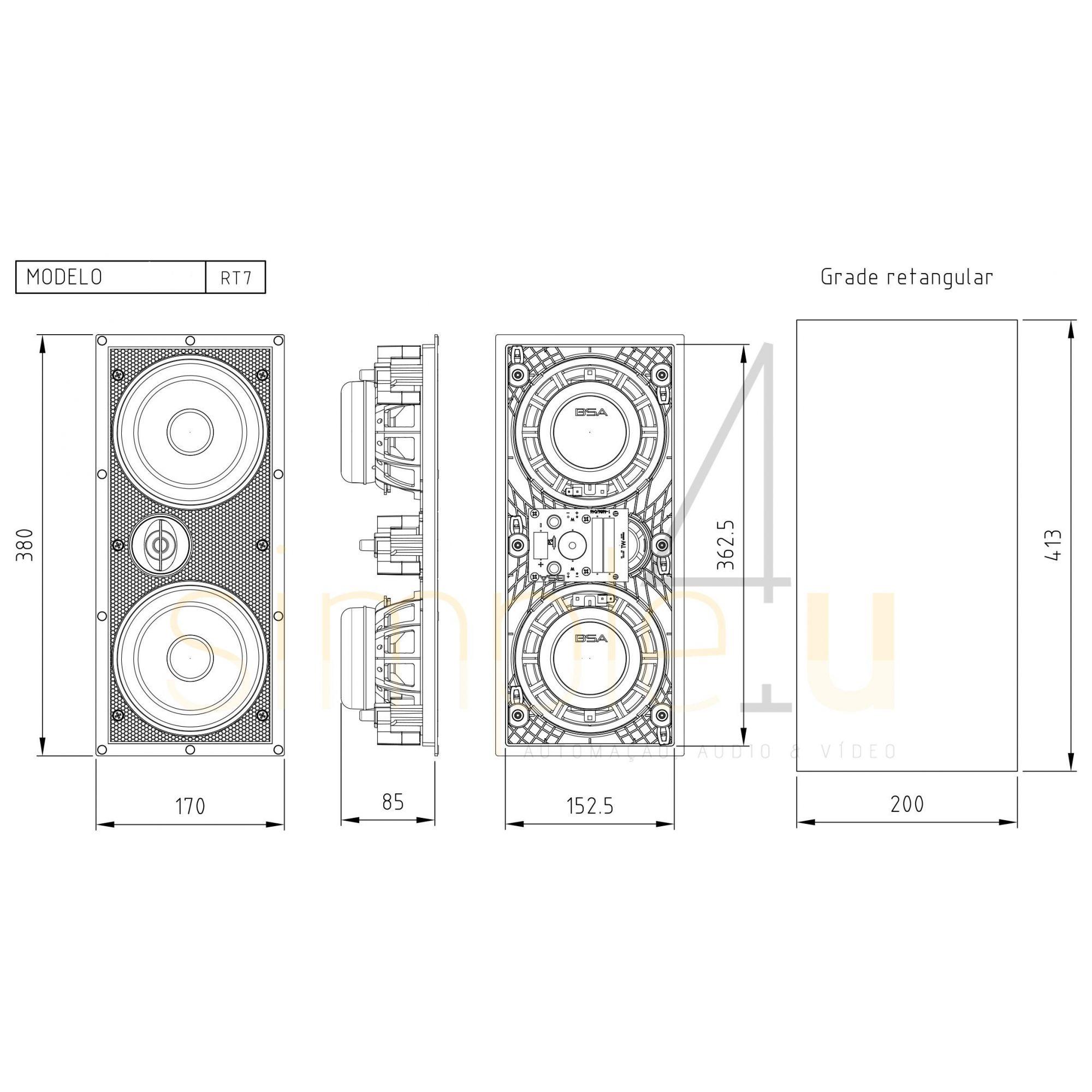 Kit 7.0 Caixa de Embutir no Gesso RT7A + RT7 BSA