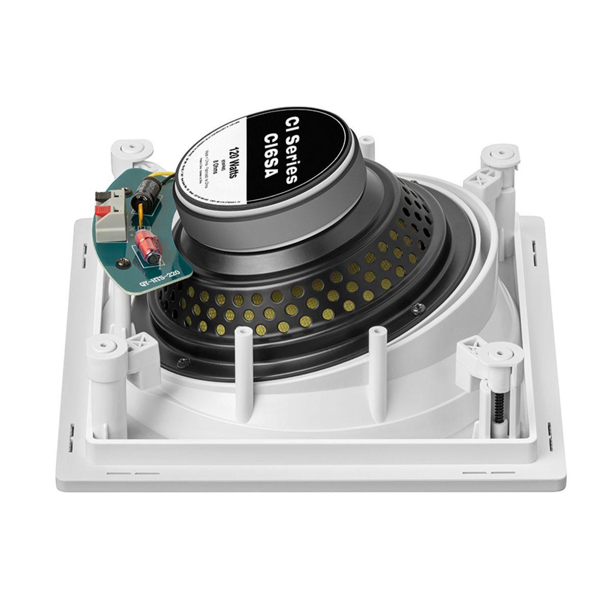 """Kit 7.1 Caixa de Embutir no Gesso Borderless CI6SA + CI6S JBL + Subwoofer Compact Cube 8"""" AAT"""