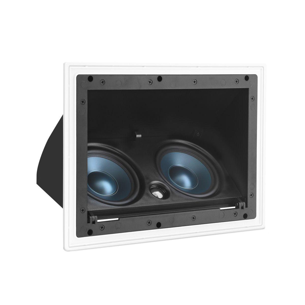 """Kit 7.1 Caixa de Embutir no Gesso LCR-A100 + NQ6-A100 + NQ6-M100 + Subwoofer Compact Cube 8"""" AAT"""