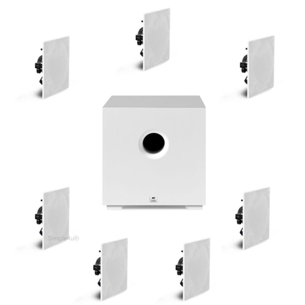 Kit 7.1 Caixa de Embutir no Gesso NQ6-A100 + NQ6-M100 + Subwoofer Compact Cube 8 AAT