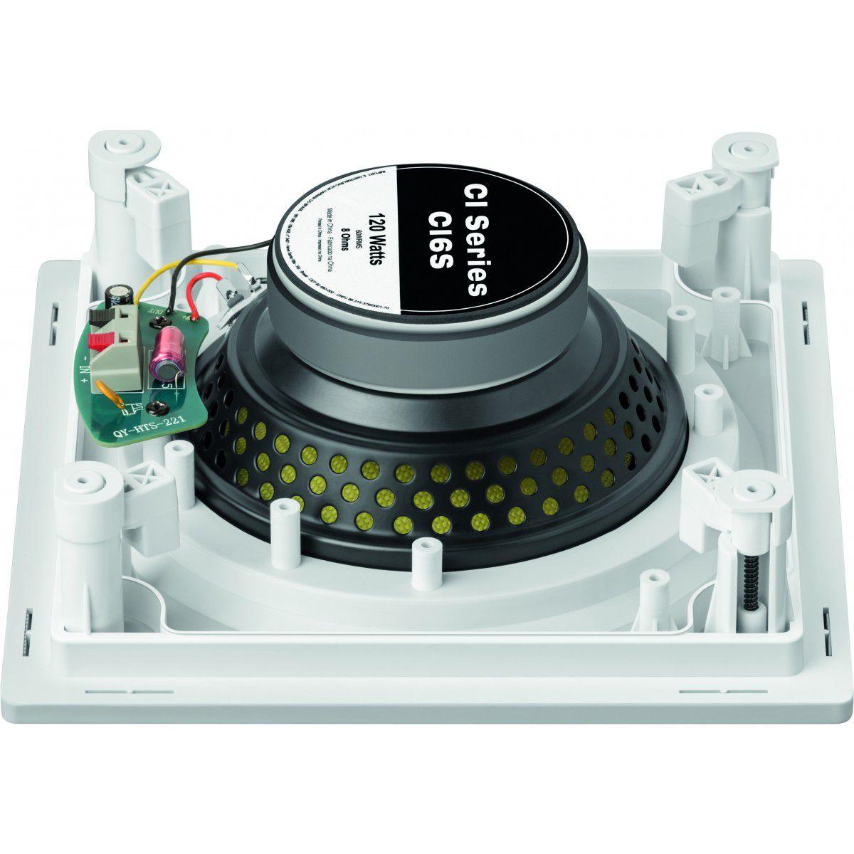 Kit Amplificador de Parede Bluetooth DM-835 DMD + 2 Caixas de Embutir Quadrada Plana CI6S JBL