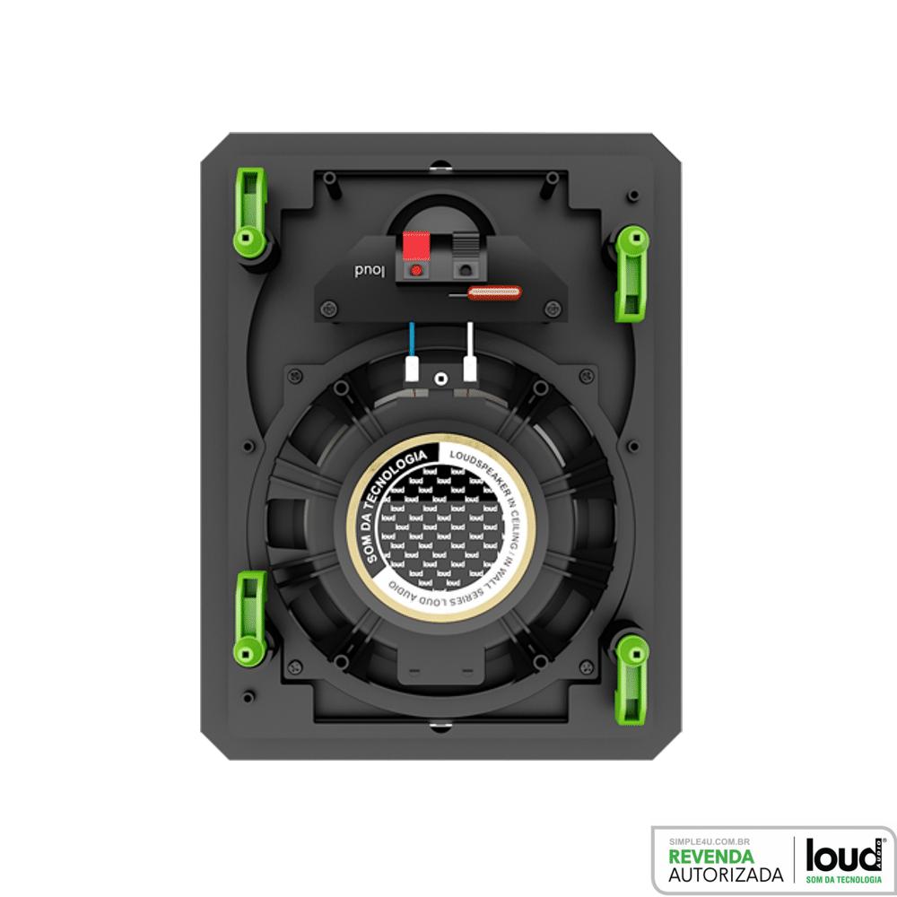 Kit Amplificador de Parede Bluetooth LAC LX BT + 2 Caixas Acústicas de Embutir LR6-PASS BL Loud