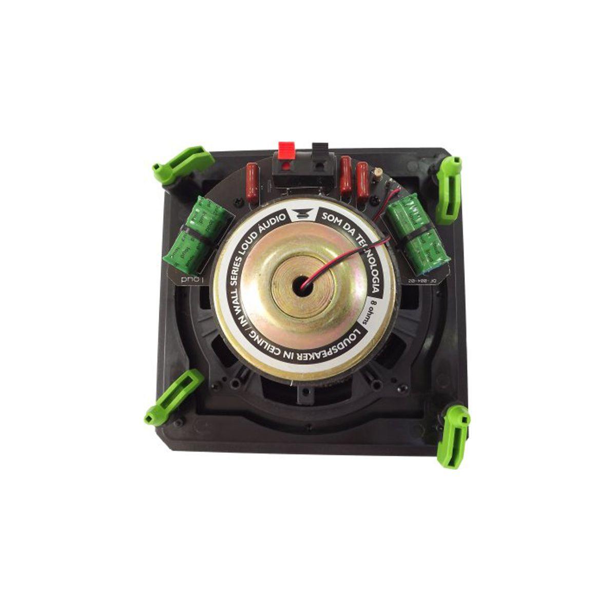 Kit Amplificador de Parede Bluetooth LAC LX BT + 4 Caixas Acústicas de Embutir SQ6-60 BL Loud