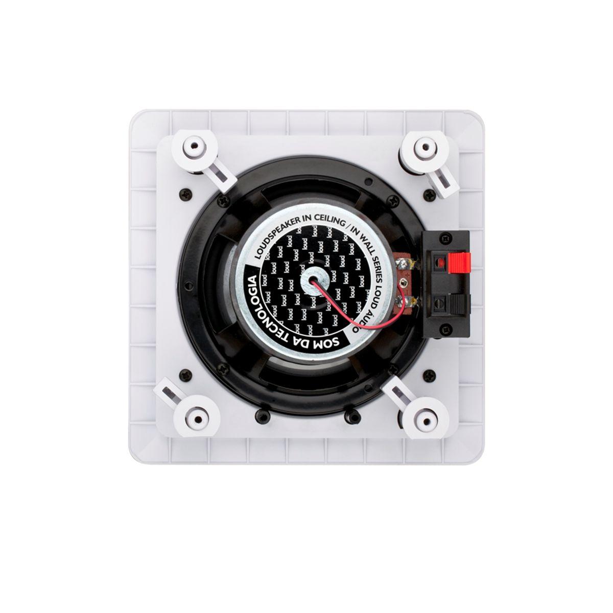 Kit Amplificador de Parede Bluetooth LAC LX BT BLACK + 2 Caixas Acústicas de Embutir SQ5-50 Loud