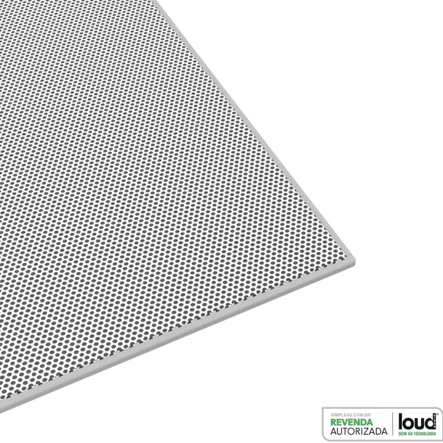 Kit Amplificador de Parede Bluetooth LAC NG + 2 Caixas Acústicas de Embutir LR6-PASS BL Loud