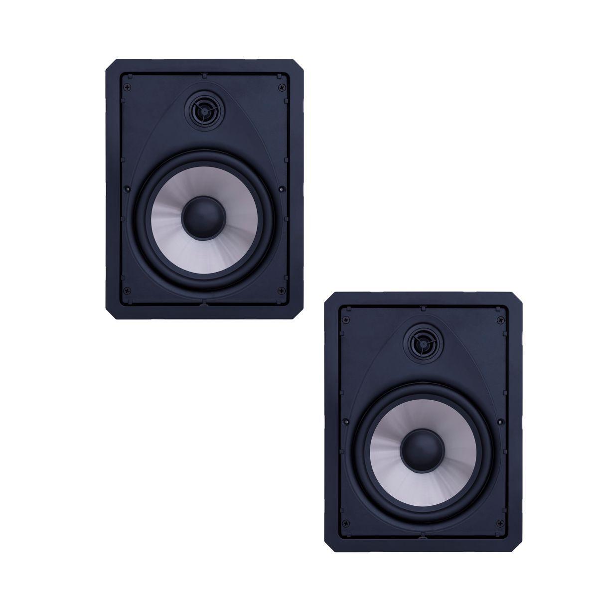 Kit Amplificador de Parede Bluetooth LAC NG + 4 Caixas Acústicas de Embutir LR6-120 BL Loud