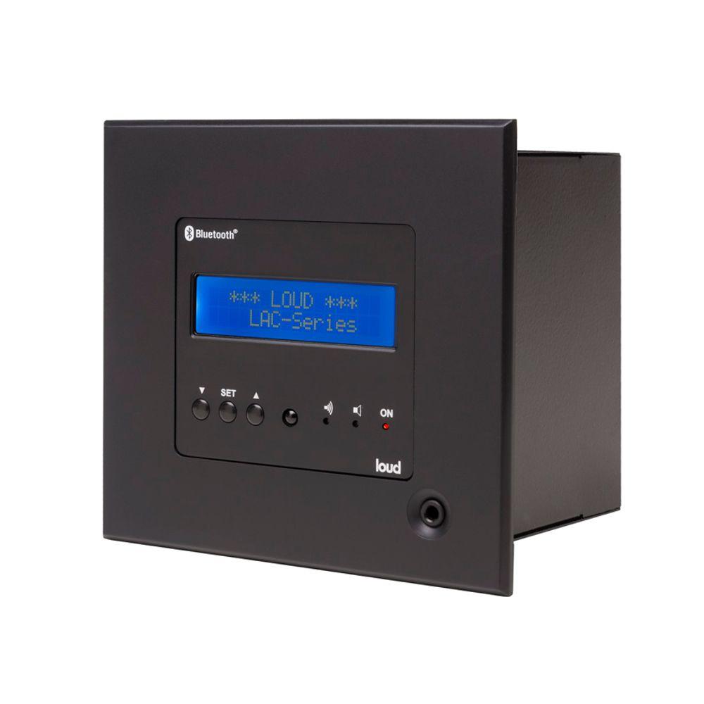 Kit Amplificador de Parede Bluetooth LAC NG BLACK + 2 Caixa Acústica de Embutir SQ5-50 Loud