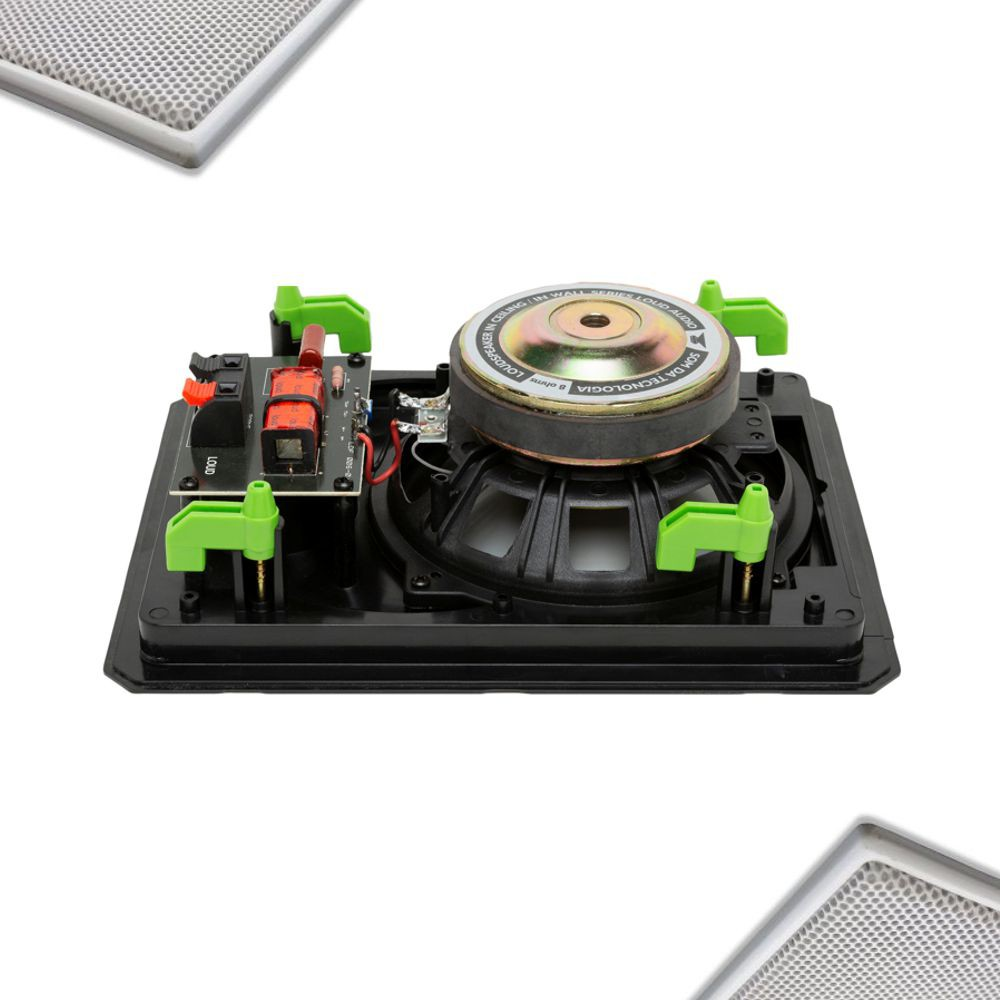 Kit Caixa de Embutir LR6-120 BL C/ Wi-Fi Áudio Streaming WSR-3 + Amplificador APL-300 Loud