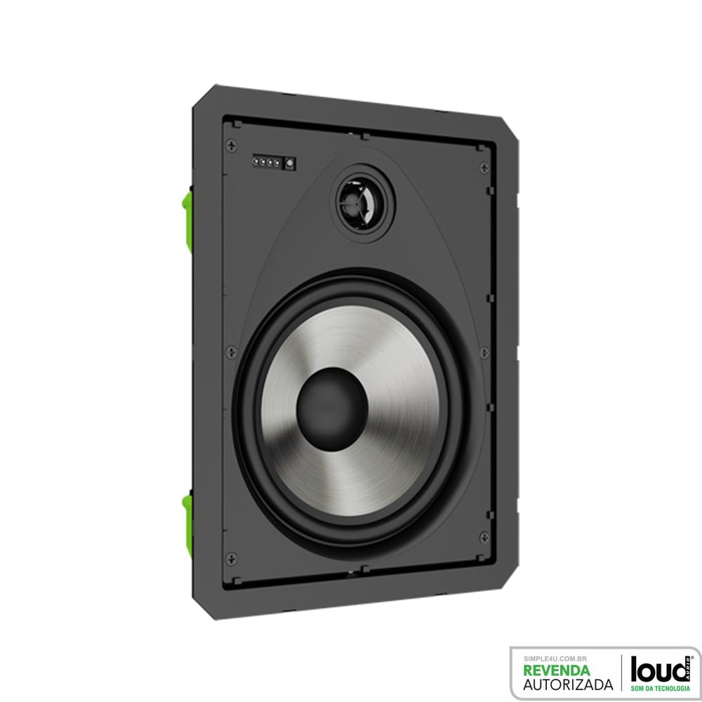 Kit Caixa de Embutir no Gesso Borderless Ativa C/ Bluetooth LR6-BT-A-BL KIT Loud