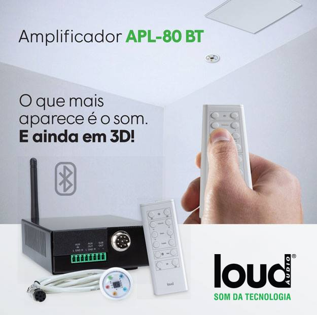 Kit Caixa de Embutir no Gesso LR6-120 BL C/ Amplificador Bluetooth APL-80 BT Loud
