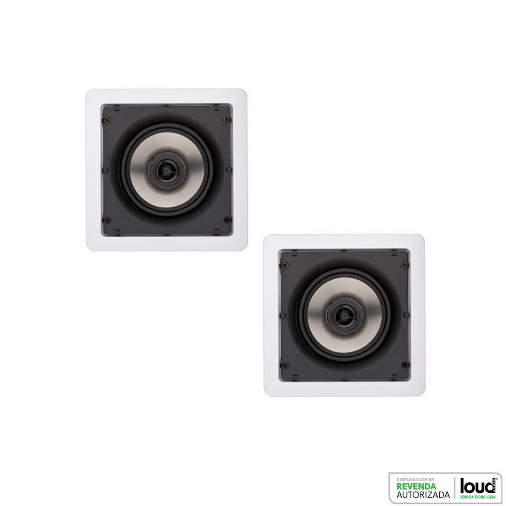 Kit Caixa de Embutir no Gesso SQ5-50 C/ Bluetooth Áudio Streaming EASY LA-BT Loud