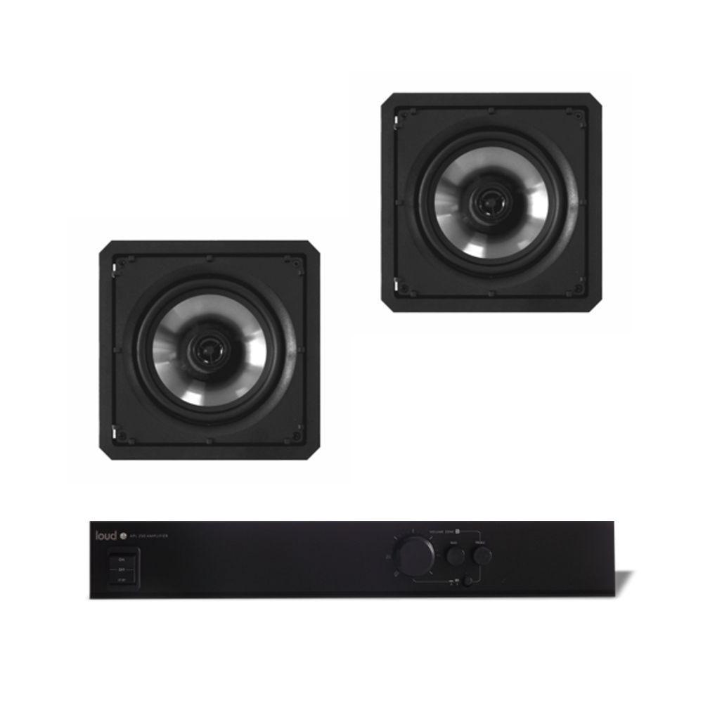 Kit Som Ambiente Amplificador 1 Zona APL-250 + 2 Caixas de Embutir SQ6-60 Loud