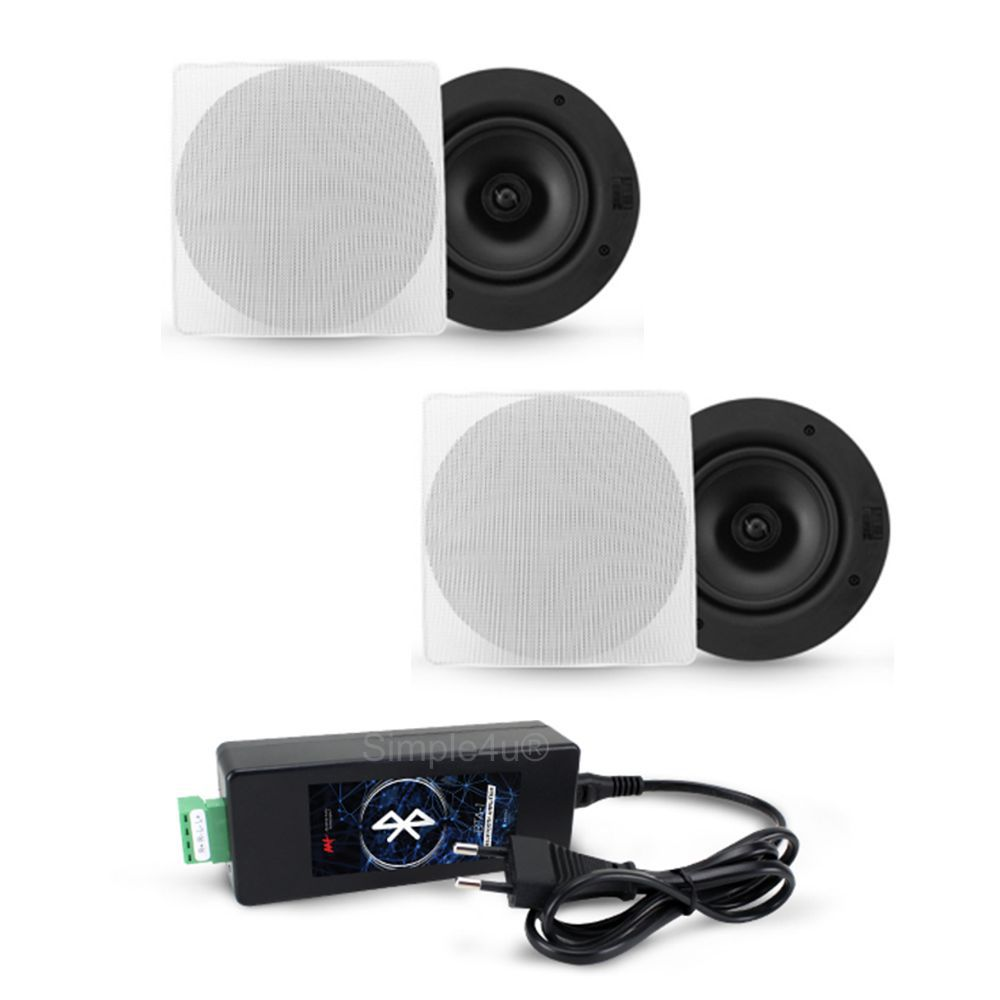 Kit Som Ambiente C/ Amplificador Bluetooth BTA-1 + 2 Caixas de Embutir NQ6-M100 AAT
