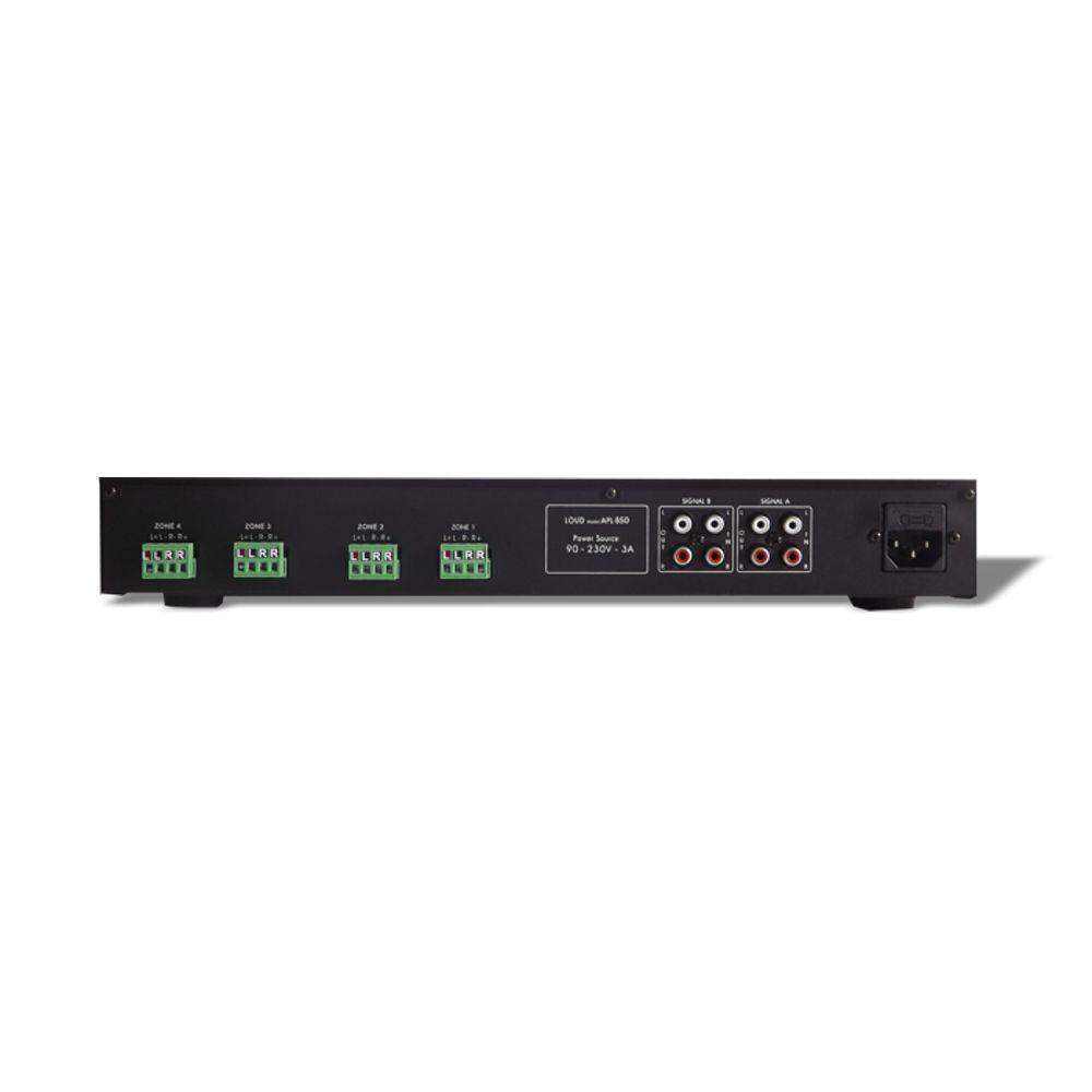 Kit Som Ambiente Multiroom 4 Zonas APL-850 + 8 Caixas de Embutir SQ5-50 Loud