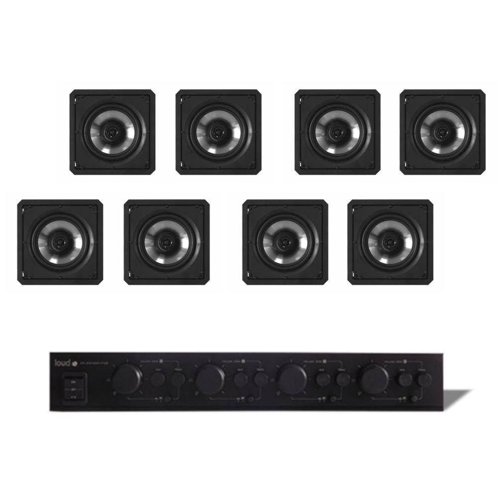 Kit Som Ambiente Multiroom 4 Zonas APL-850 + 8 Caixas de Embutir SQ6-60 Loud