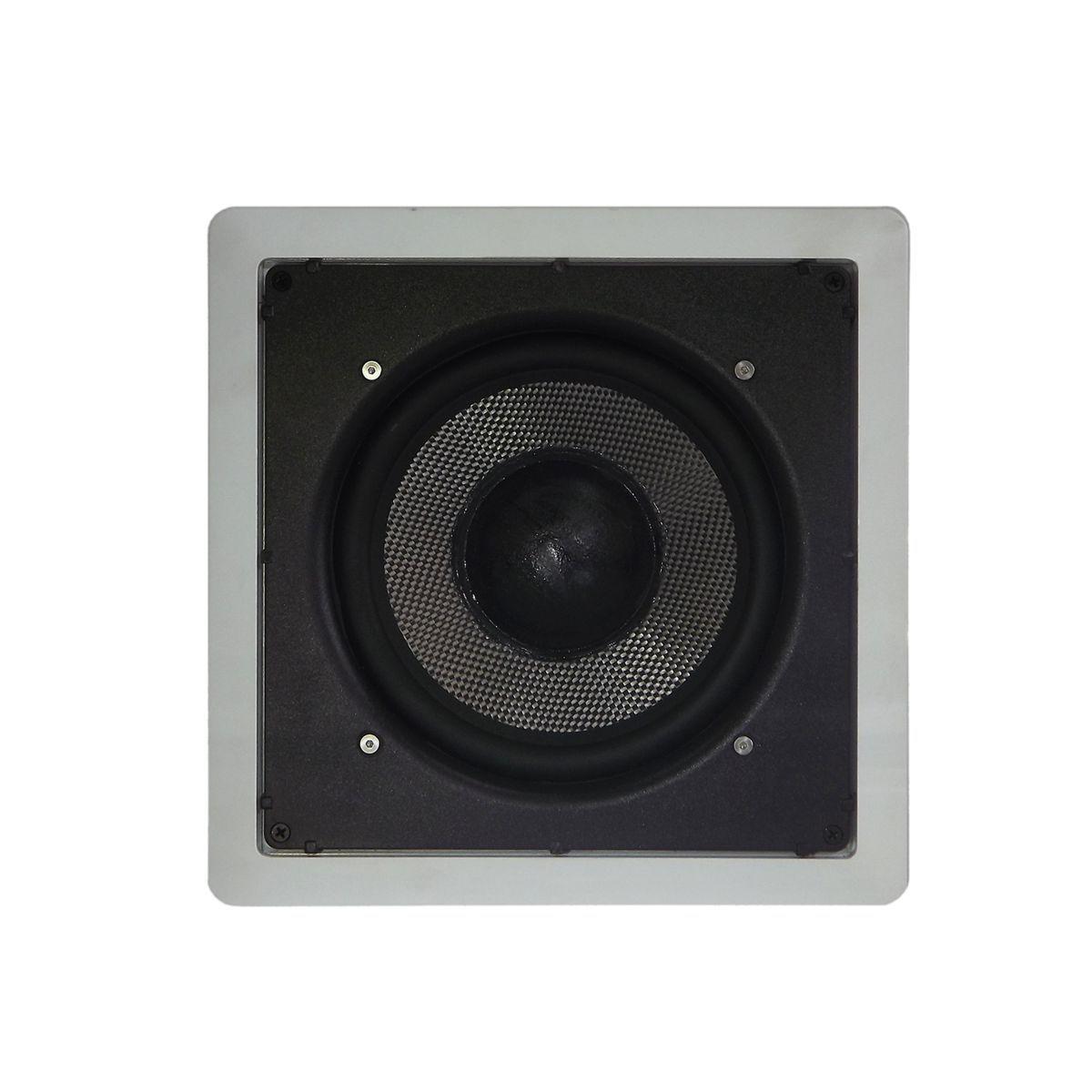 Kit Subwoofer Passivo de Embutir LSW8 150 + Amplificador Mono APL-S150 150W RMS Loud