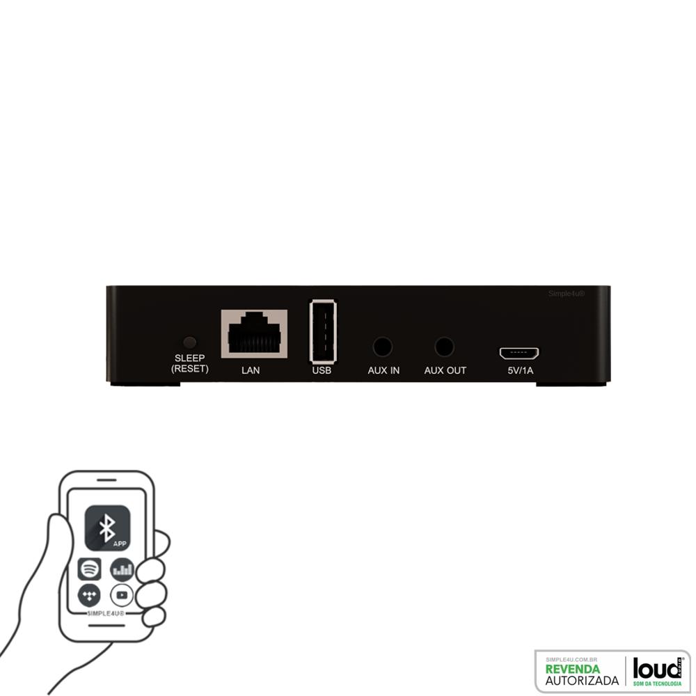 Receptor Áudio Streaming Multimídia Wi-FI WSR-4 Loud