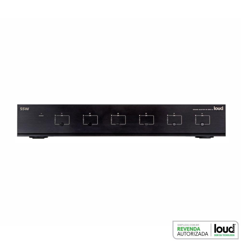 Seletor de Áudio P/ 6 Zonas SSW-6R Loud