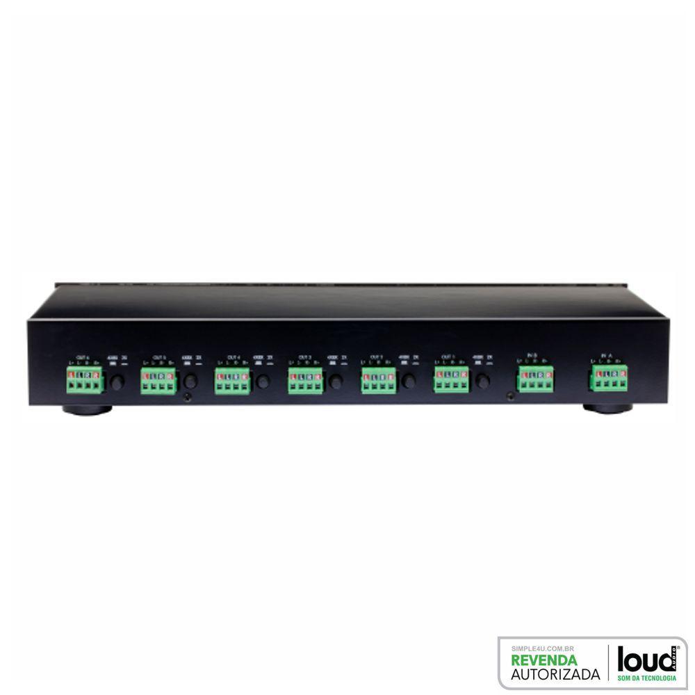 Seletor de Caixas C/ Atenuador De Volume P/ 6 Zonas CSS-6 Loud