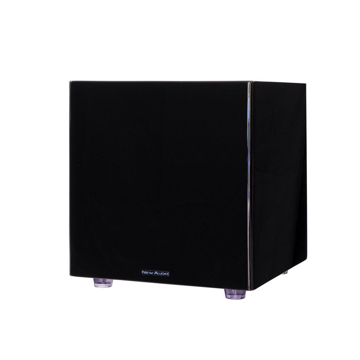 "Subwoofer Ativo 12"" 200W RMS Clean Design Black Piano SUB200 12 New Audio"