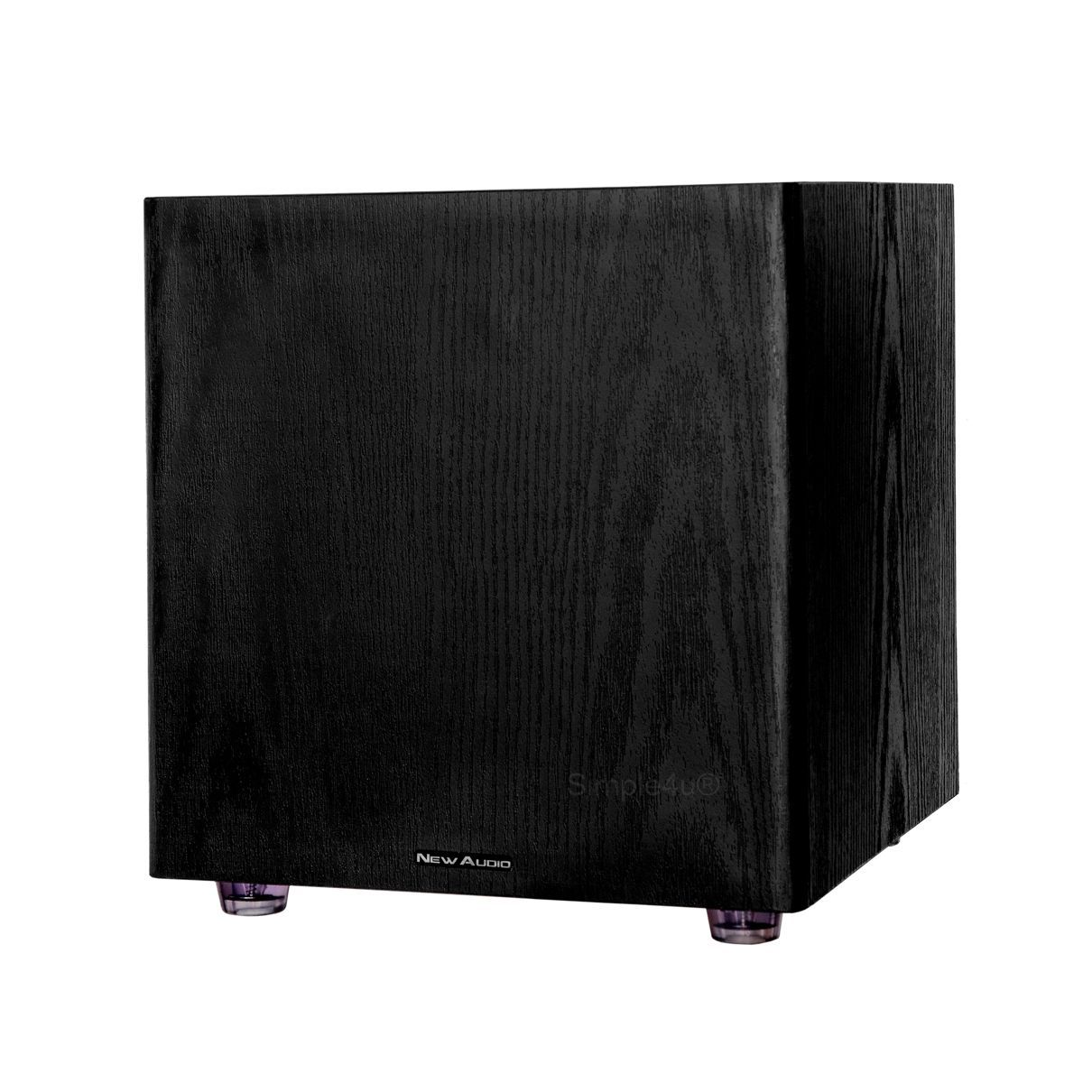 "Subwoofer Ativo 12"" 200W RMS Clean Design Black Wood SUB200 12 New Audio"