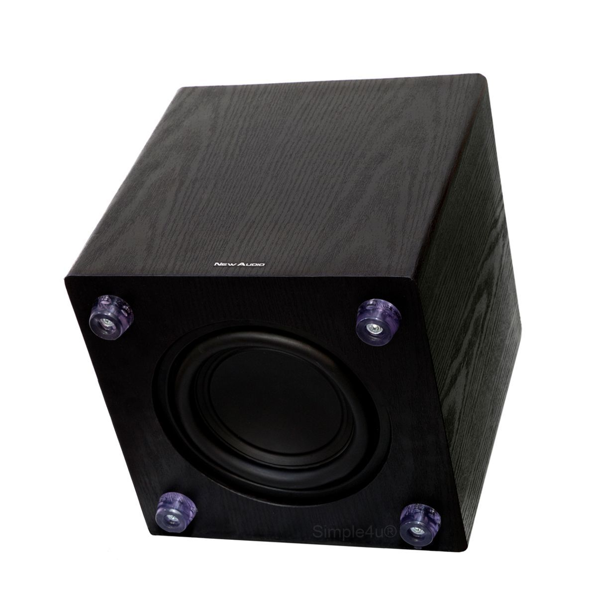 "Subwoofer Ativo 8"" 200W RMS Clean Design Black Piano SUB200 8 New Audio"