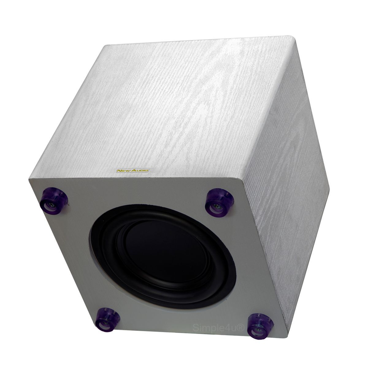 "Subwoofer Ativo 8"" 200W RMS Clean Design Wood SUB200 8 New Audio"