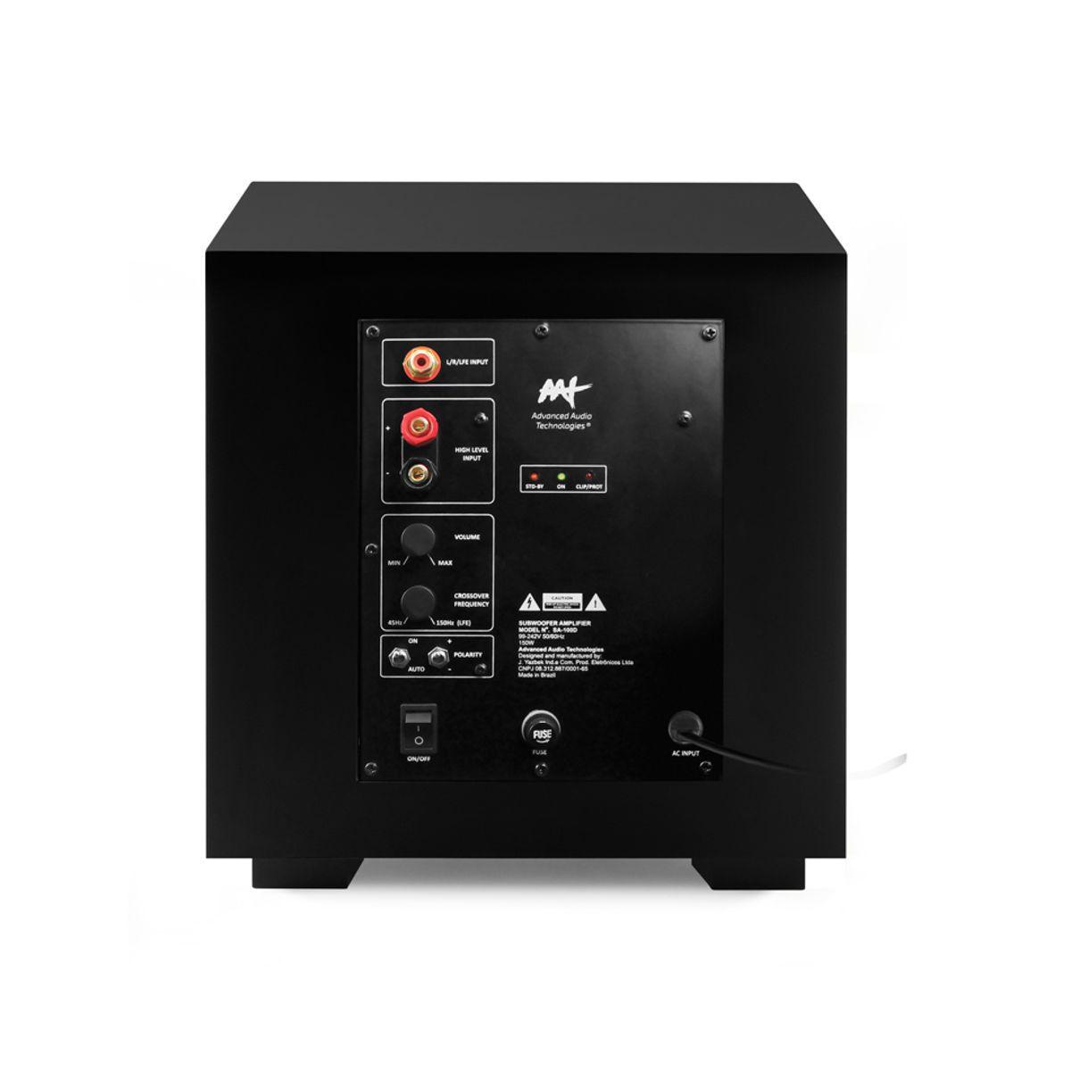 "Subwoofer Ativo Compact Cube 10"" 240W RMS de Potência Máxima AAT"