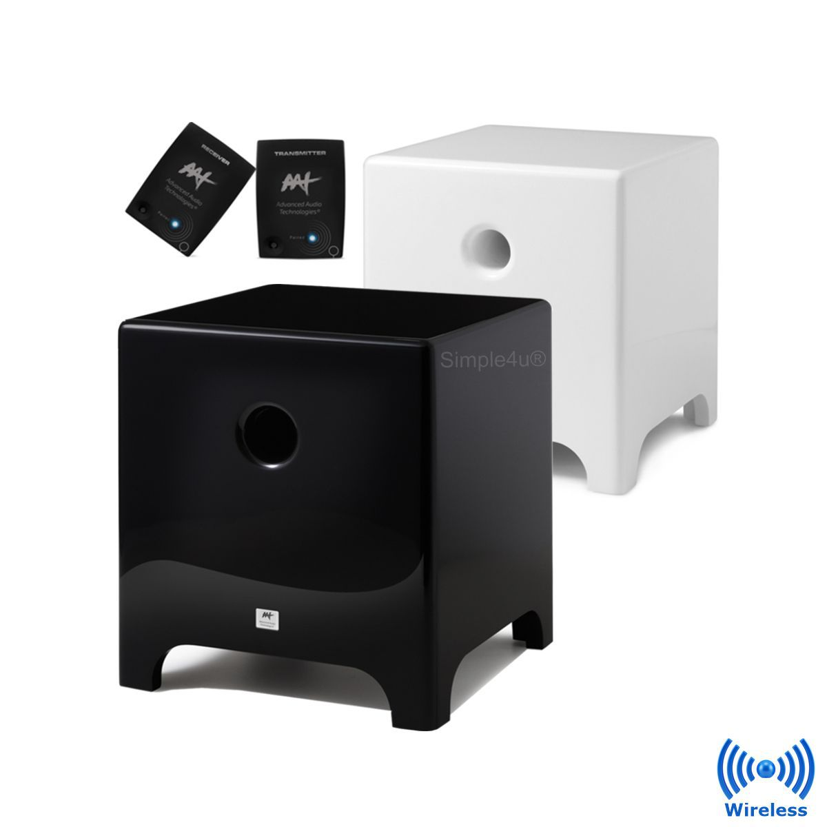 "Subwoofer Wireless Ativo Cube Modern 10"" 500W RMS AAT"