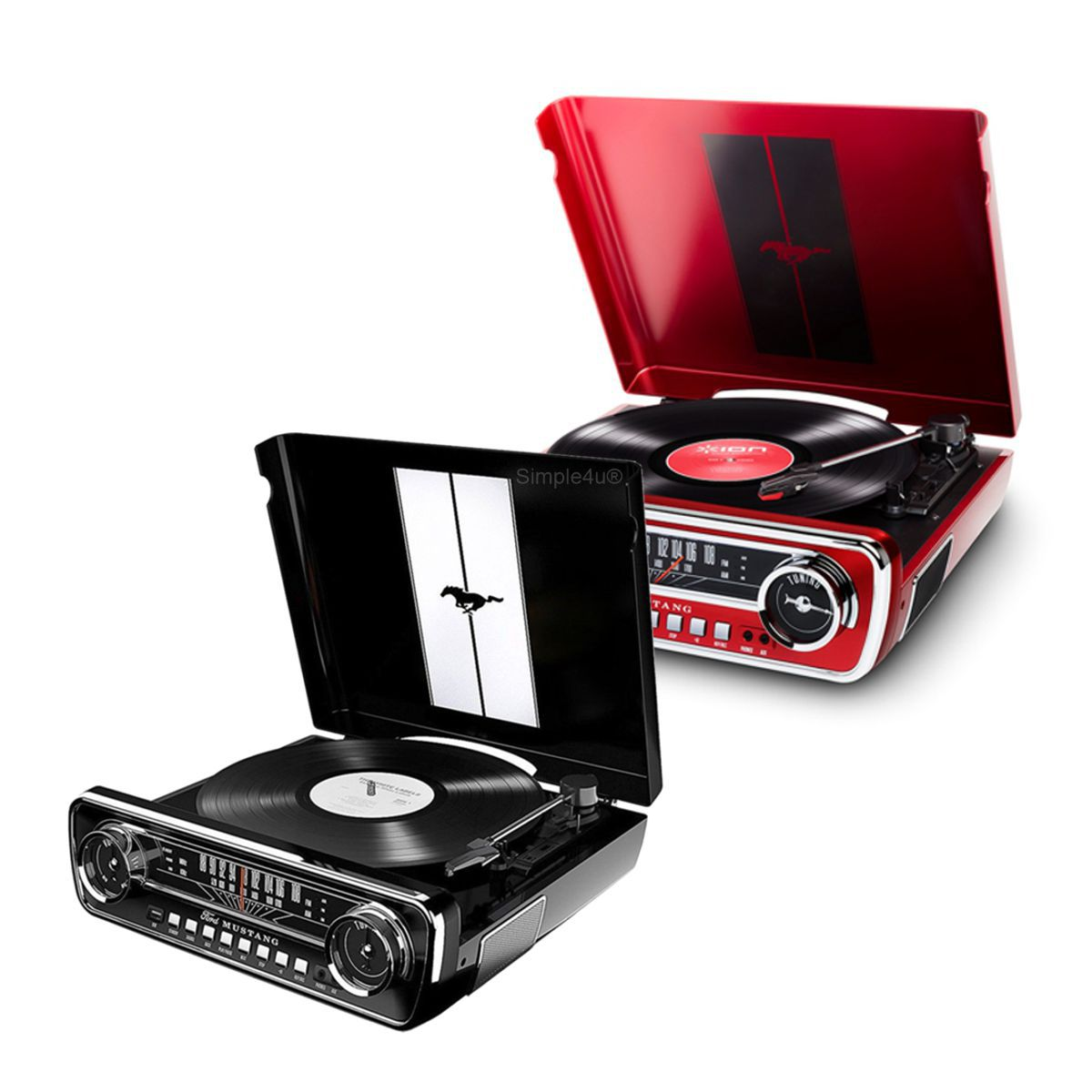 Toca Discos 4 em 1 Retrô Music Center - Mustang LP ION Audio