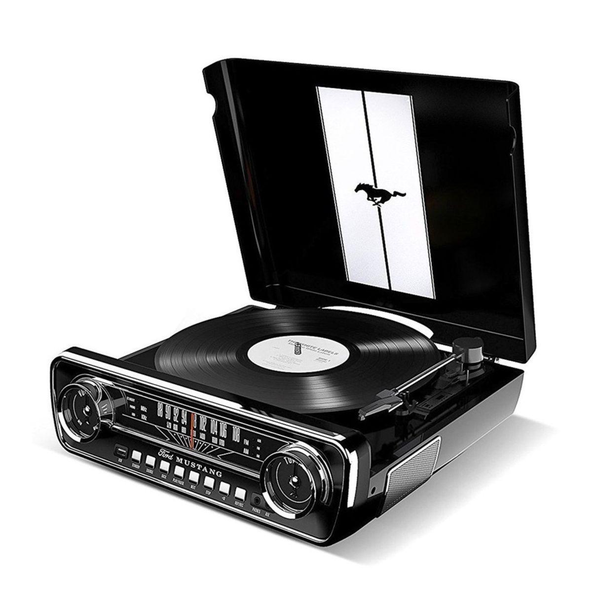 Toca Discos 4 em 1 Retrô Music Center - Mustang LP ION Audio