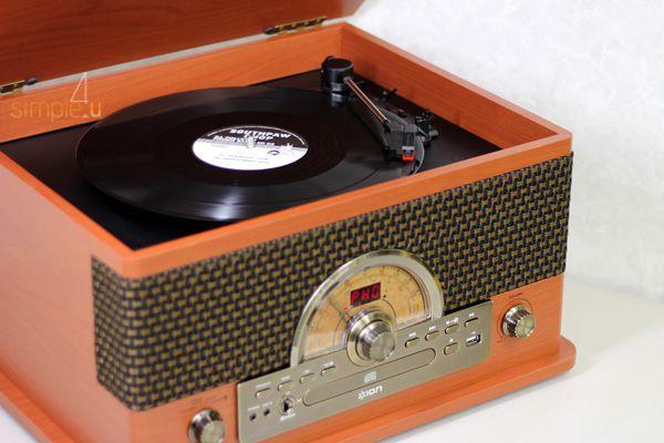 Toca Discos 7 em 1 Estilo Retrô C/ Conversor USB - Superior LP ION Audio