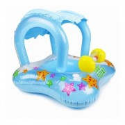 Baby bote Inflável  kiddie c/cobertura