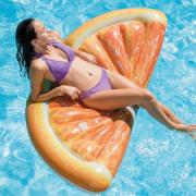 Colchão Inflável  piscina laranja fatia