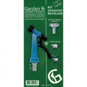 """Kit Esguicho Revólver Azul 1/2 com bico 3/4"""" - Garden"""""""