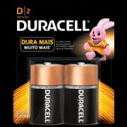 Pilha Duracell alcalina D-2 grande