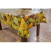 Toalha de mesa flanelada Oxforf verde laranja