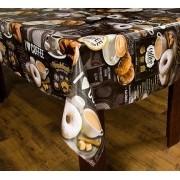 Toalha de mesa térmico dekorama Turim  café preto .