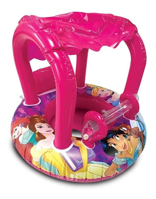 Boia circular inflável infantil c/fralda c/ cobertura princesas