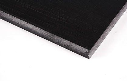 Chapa de Poliacetal preta 12,0mm x 500 x 1000mm