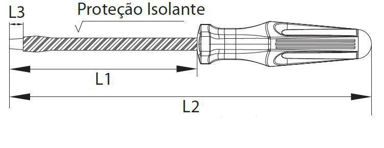 Chave de Fenda isolada 1/8x3 1/8 Belzer