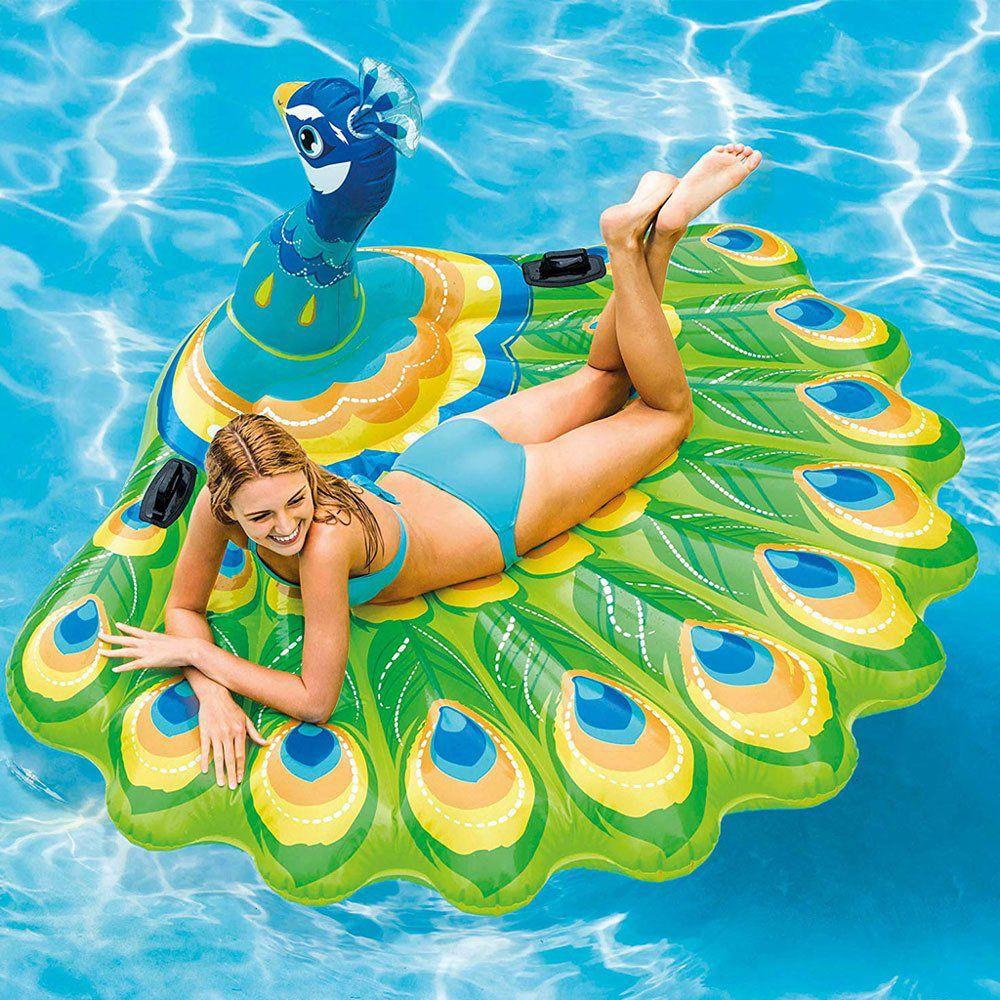 Colchão piscina ilha pavão