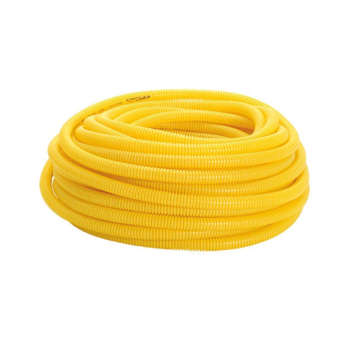 Eletroduto Conduite Amanco Conrrugado - Amarelo