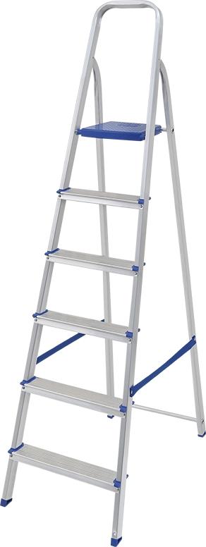Escada Alumínio 6 degraus -  Mor