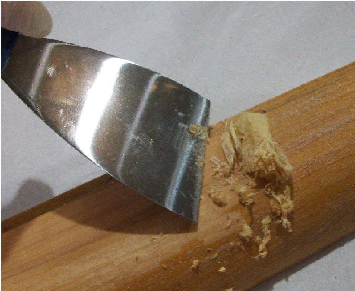 Espátula cabo madeira 8cm - Gold