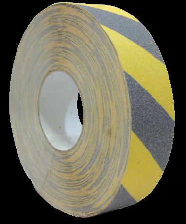 Fita Antiderrapante Preta/Amarela  48mmx30m