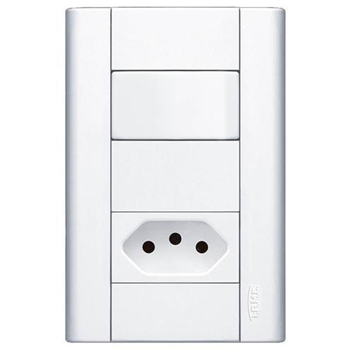 Interruptor simples e tomada pad 2p+t 20a
