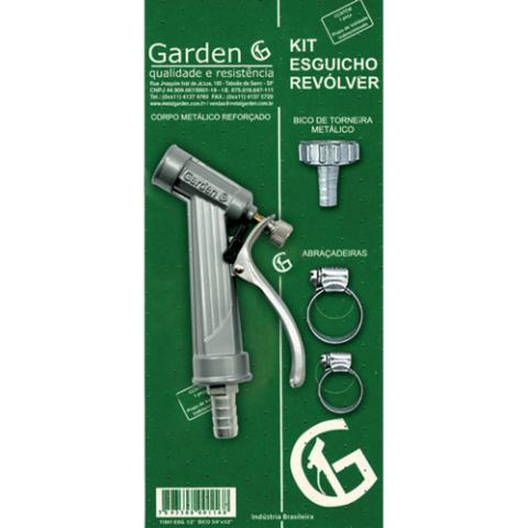 """Kit Esguicho Revólver 1/2 com bico 3/4"""" - Garden"""""""