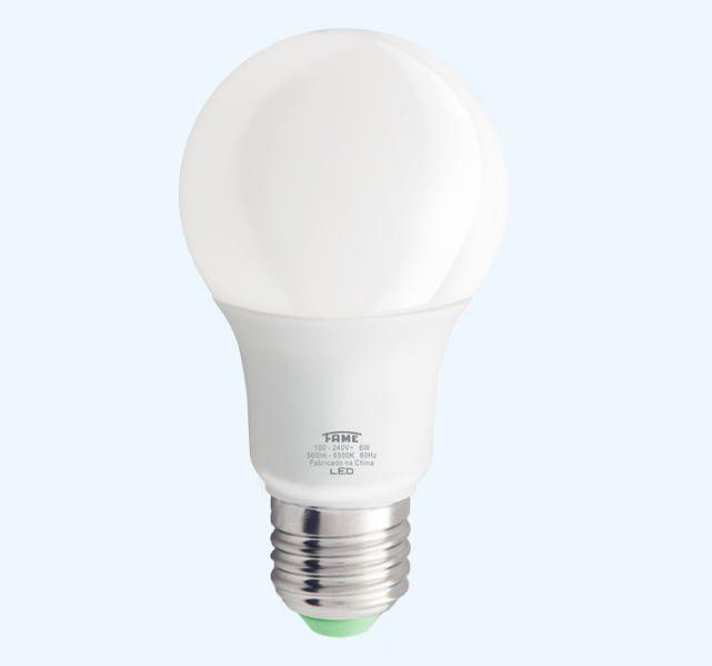 Lâmpada LED A60 6W 6.500K - Luz Branca Fria
